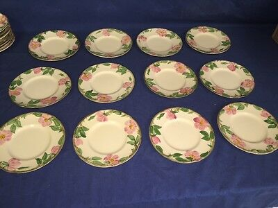 "12 USA Franciscan Desert Rose 6"" Bread Plates ~ Excellent"