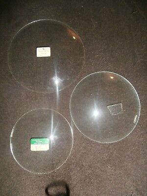 NOS-3 pcs. Round Convex Glass for Clocks/Pictures