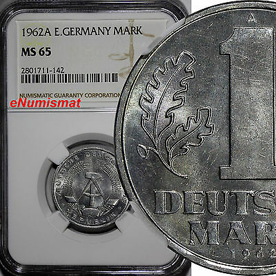 German-Democratic Republic (DDR) 1962 A 1 Mark NGC MS65 TOP GRADED BY NGC KM# 13
