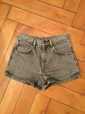 True Vintage High Waist Shorts Jeansshorts Arizona L schwarz Stonewashed