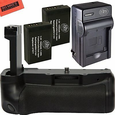 Replacement Battery Grip for Canon EOS 77D Camera + 2 LP-E17 Battery + Charger