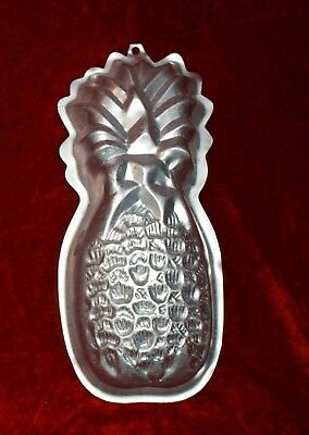 vintage anodised pineapple dessert mould shape 28cm long clear alum