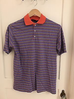 Vintage Kenneth Gordon Of New Orleans, Size Large, Purple Striped Polo (sn1/2)