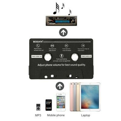 3.5mm Voiture Audio Cassette Tape Adapter Transmitters pr MP3 iPod iPhone CD MD