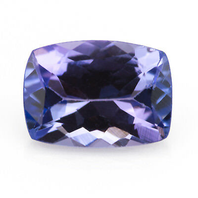 0.88ct Tanzanite. A primarily blue, well saturated gem. An eye-clean antique cut