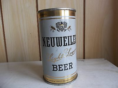1960 Neuweiler Light Lager Flat Top Beer Can Allentown w/ PA Tax Air Sealed