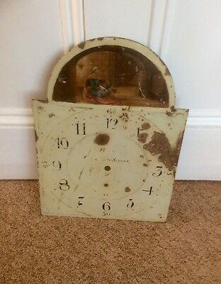 Antique Hand Painted 19th Century Grandfather Longcase Arched Clock Dial,BOLTON?