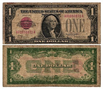 1928 $1 UNITED STATES NOTE Puerto Rico (Red Seal) FR#1500 Circulated