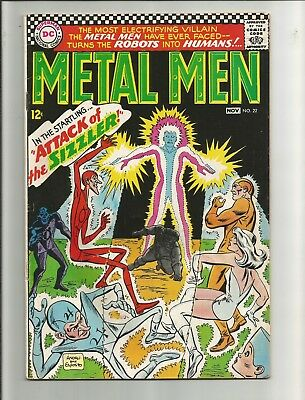 Metal Men #22 from 1966. Attack of the SIZZLER.!!