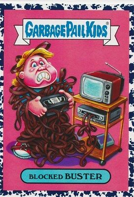 7a BLOCKED BUSTER 2018 Garbage Pail Kids Hate the 80's BRUISED CULTURE VHS