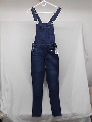 H & M DIVIDED Coveralls Jean Denim Size 10 Bibs Overalls Blue DIVIDED Silver NWT