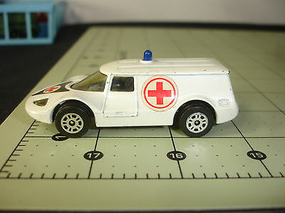 Old Vtg Corgi Juniors Diecast Healer Wheeler Ambulance Toy Car Gt Britain
