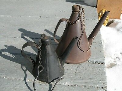 Antique Coal Oil Miners Lamp Pittsburgh PA Teapot Vintage Lantern Torch Light NR