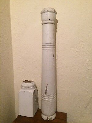 Antique Vintage 3ft 19c Wood porch post column architectural salvage lamp parts