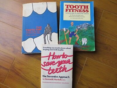 Natural Holistic Tooth Teeth Care 3 Book Lot - How to Save Your Teeth Tooth Trip