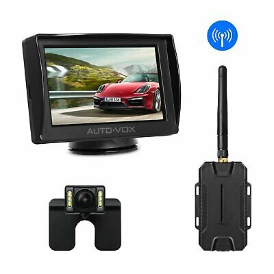 "Wireless Car Rear View System 4.3"" TFT LCD Monitor Reverse + Backup Camera Kit"