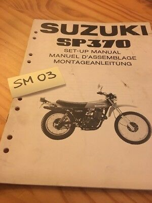 Suzuki SP370 SP 370 instruction preparation setup manuel montage set-up 370SP