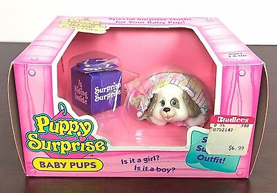 Vintage 1992 Hasbro Puppy Surprise Baby Pups New In Box