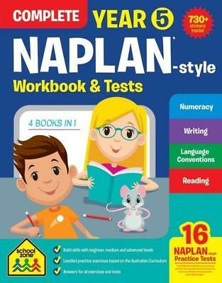 NEW Year 5 NAPLAN - Style Complete Workbook and Tests : School Zone Paperback