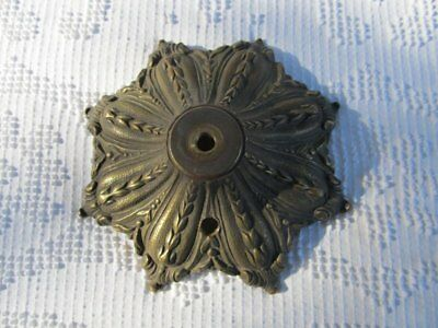 "7"" Vintage Antique Art Nouveau Ornate Brass Bronze Lamp Light Part w Switch Hole"