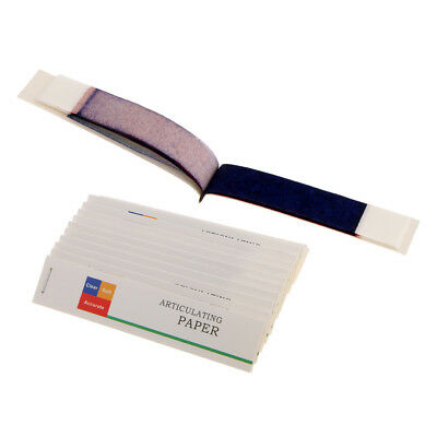 Dental Articulating Paper Red BlueThick Strips 12 Books Clear Soft Accurate
