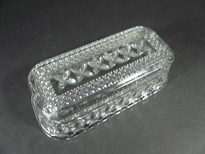 Anchor Hocking WEXFORD Glass Diamond Design Pattern Butter Dish Cover Only