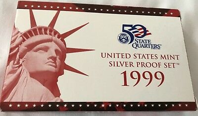 1999-S 90% Silver Proof Set United States Mint Original Government Packaging Box
