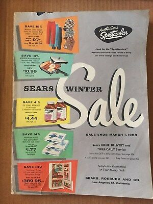 1958 Sears Winter Sale Catalog With 392 Pages Clean & Complete L@@k