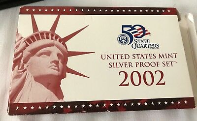 2002-S 90% Silver Proof Set United States Mint Original Government Packaging Box