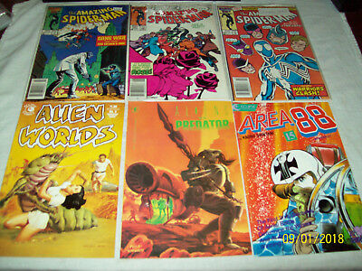 60 Comics Book Lot Old New DC Marvel Spiderman Black Panther Swampthing Kotter T