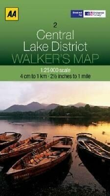 Central Lake District by AA Publishing 9780749573133 (Sheet map, folded, 2012)