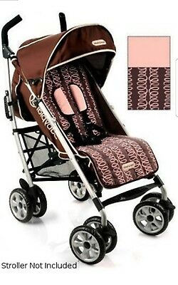 New Timi & Leslie Seat Liner Stroller Reversible Zoey Pink Brown Baby Planet