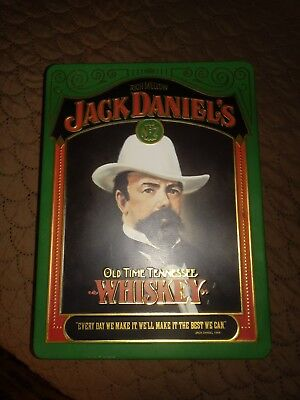 JACK DANIEL'S WHISKEY Green TIN BOX with 2 Sipper Jiggers
