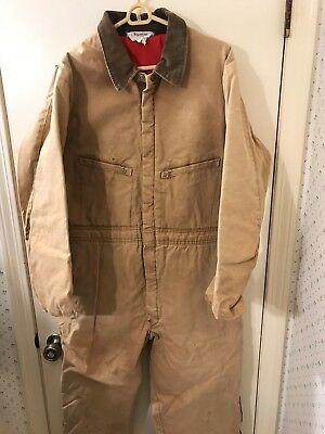 Key Imperial Insulated Quilt Lined Coveralls Mens Large Reg (38-40x29)  VGC !