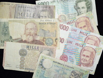 Lot of MIXED BANKNOTES From ITALY