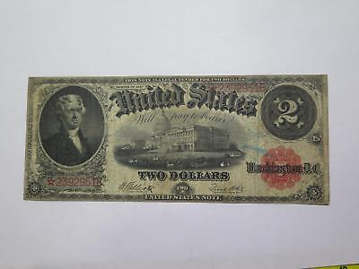 1917 $2 Legal Tender Star Note Rare Type Old Currency Banknote Collection Lot