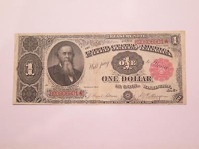 1890 $1 Treasury Coin Note Red Seal Stanton Old Currency Banknote Collection Lot