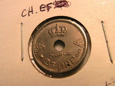 1899-1946 Lot of Four NORWAY 25 Ore Coins w silver 1899,1927,1939,1946
