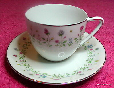 {SET OF 4} Japan China (Garden Melody) CUP & SAUCER SETS #3918 (2 sets avail)