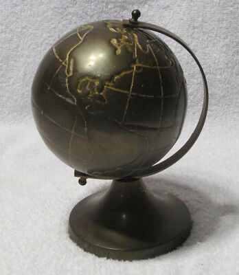 Vintage Solid Brass World Geographic Naurical Globe with Stand