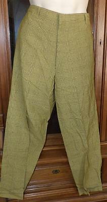 NWOT VTG 50s 60s MAD MENS GOLF CASUAL PLAID PANTS TROUSERS HIPSTER NOS 36
