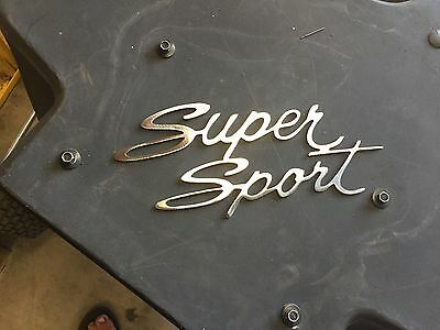 "Plasma cut "" Super Sport"" logo style 1 Metal Man Cave/Garage Wall Art"