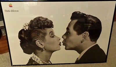 I Love Lucy apple think different poster 1998 - Excellent condition - & Desi