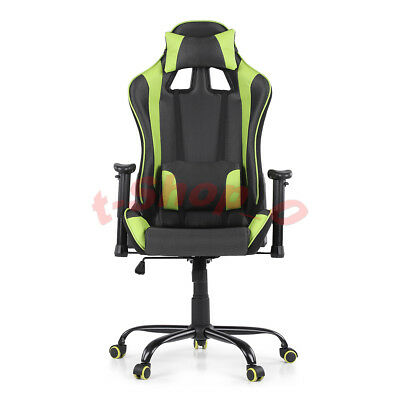 Computer Gaming Chair Racing Seat Style Office Swivel Drive arm-rest Adjustable