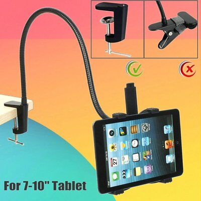 360º Lazy Bed Gooseneck Desk Mount Stand Holder For iPad iPhone Android Tablet H