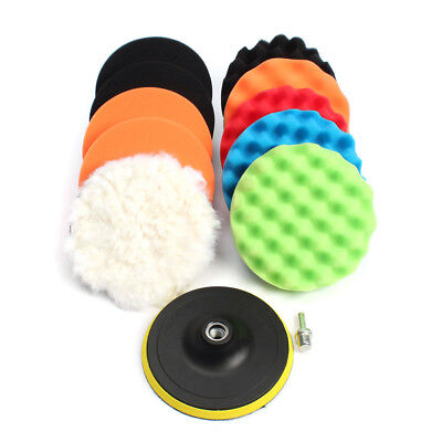 12pc 3/4/5/6/7 Inch Buffing Sponge Polishing Pad Kit Set For Car Polisher Buffer