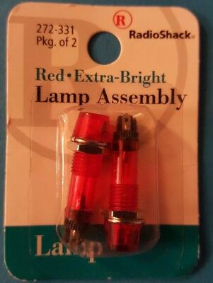 RadioShack Extra Bright Red Lamp Assembly 2 pack 2720331 *FREE SHIPPING*