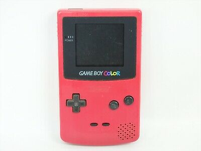 JUNK Nintendo Game Boy Color RED Gameboy Console CGB-001 Not Working 1310 gb