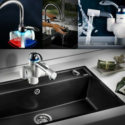 Electric Faucet Tap Fast Instant Heating Hot Water Heater Kitchen Bathroom