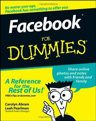 Facebook For Dummies by Pearlman, Leah Paperback Book The Cheap Fast Free Post